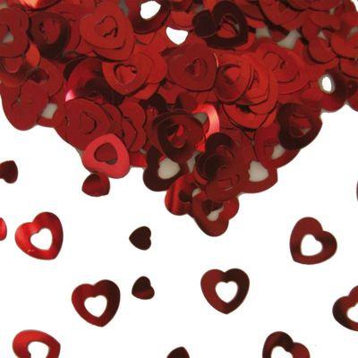Foto van Tafel Confetti hart rood