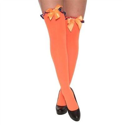 Kousen oranje met strik rood/wit/blauw