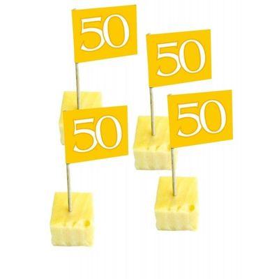 Foto van Prikker Vlag: 50 goud/50