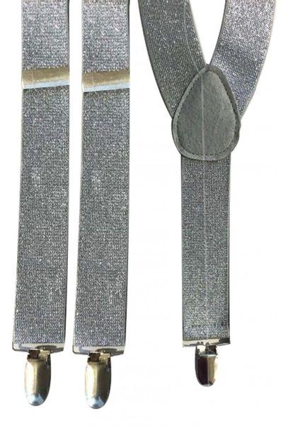 Bretels zilver lurex