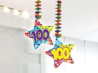 Hangdecoratie Birthday Block 100 jaar