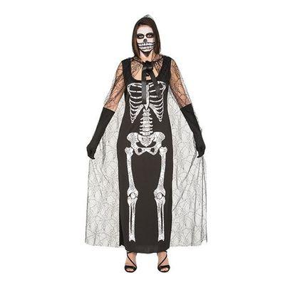 Skelet jurk met cape