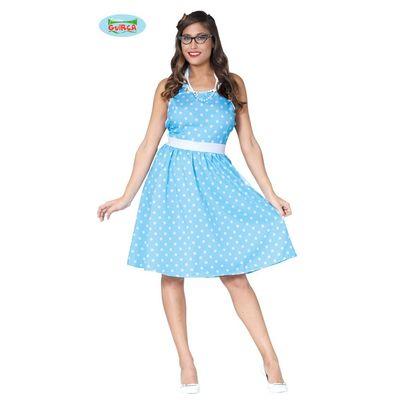Foto van Blauwe polkadot jurk