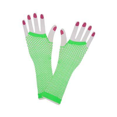 Net handschoenen neon groen