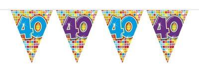 Mini Vlaggenlijn Bday Blocks 40 jaar
