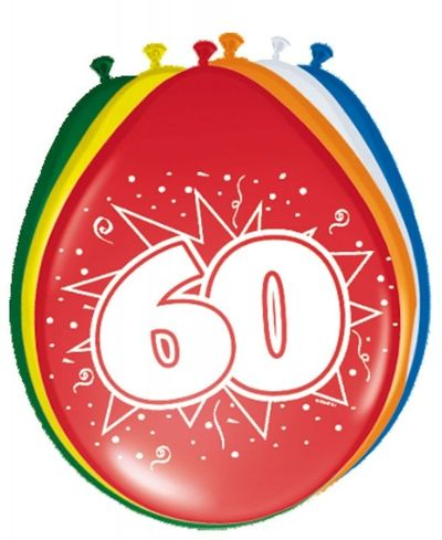 Ballonnen 60 jaar (30cm) 8st