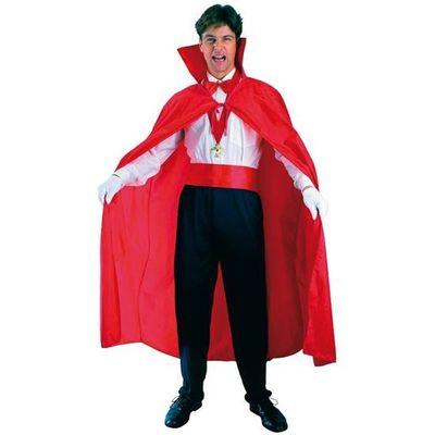 Rode cape met kraag