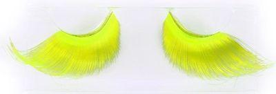 Neon wimpers fluor geel - XL