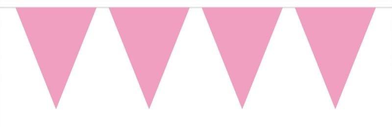 Afbeelding van Vlaggenlijn Effen Baby Roze /10mtr
