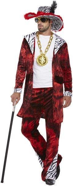 Pooier / pimp kostuum - Rood