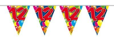 Vlaggenlijn balloons 12 jaar 10/s