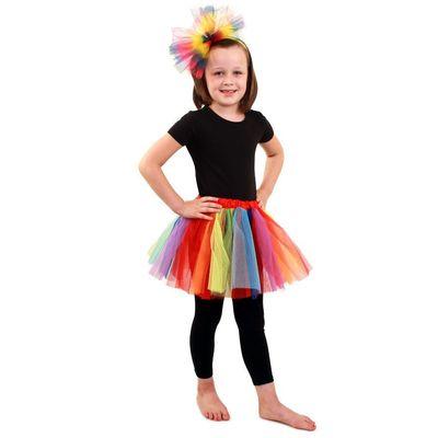 Foto van Tule rokje kind - Regenboog