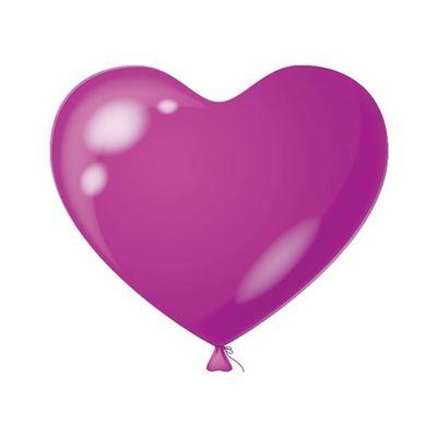 Hart Ballon violet (100 stuks)