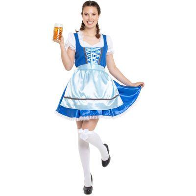 Klassieke Heidi jurk blauw
