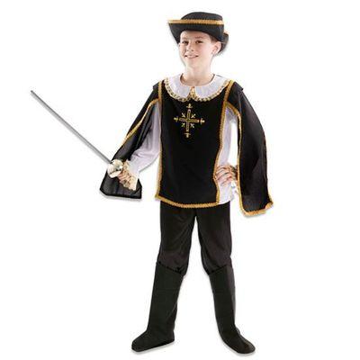 Foto van Musketier kostuum jongen