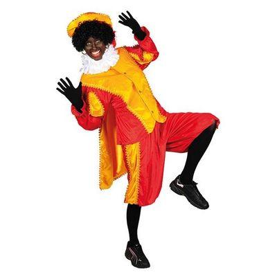 Pietenpak geel/rood met cape