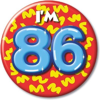 Button 86 jaar