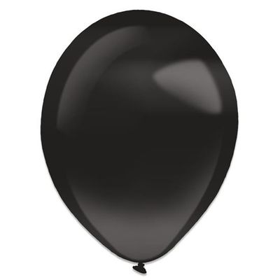 Foto van Ballonnen jet black pearl (28cm) 50st