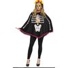 Afbeelding van Halloween poncho day of the dead