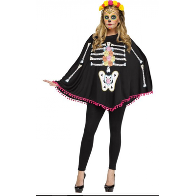Foto van Halloween poncho day of the dead