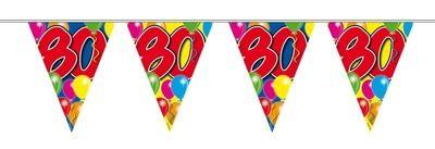 Vlaggenlijn balloons 80 jaar 10M