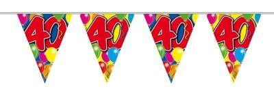 Vlaggenlijn balloons 40 jaar 10M