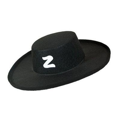 Zorrohoed vilt zwart