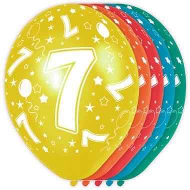 Leeftijd ballonnen 7 jaar 5 stuks