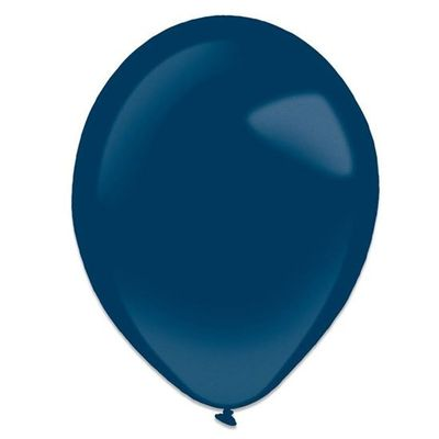 Ballonnen navy blue metallic (13cm) 100st