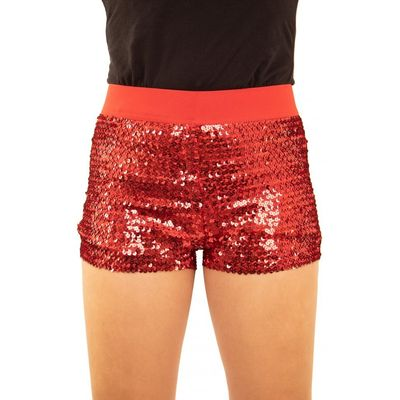 Foto van Glitter broekje showgirl rood