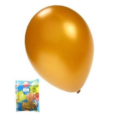 Foto van Kwaliteitsballon metallic goud per 50 (Ø 14 inch / 36 cm)