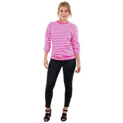 Foto van Roze witte gestreepte trui