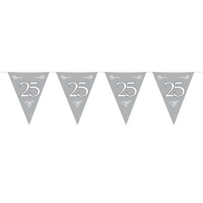 Vlaggenlijn 25 Zilver/stk
