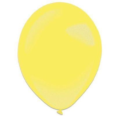 Foto van Ballonnen yellow sun metallic (35cm) 50st