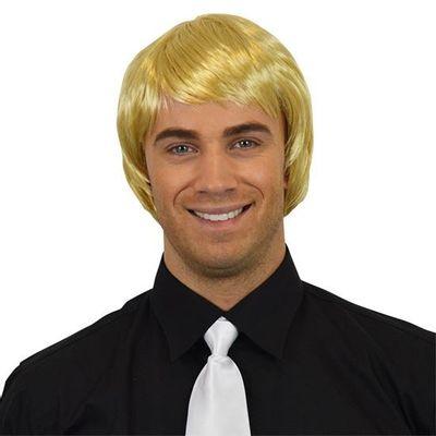 Herenpruik steil blond