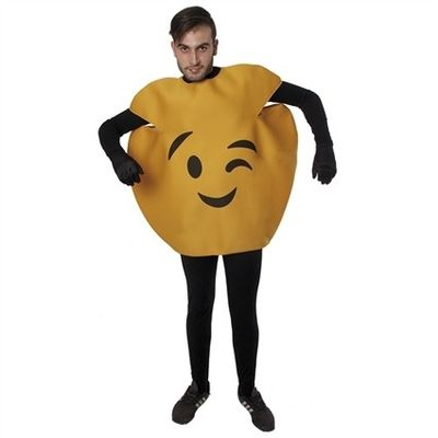 Emoticon kostuum knipoog