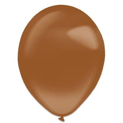 Ballonnen brown crystal (35cm) 50st
