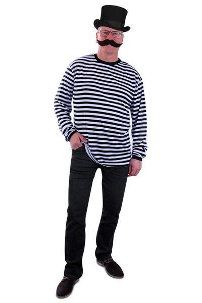 Zwart/wit gestreepte trui