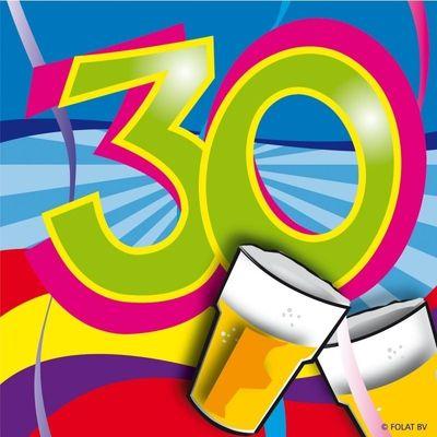 Servet 30 jaar Swirls 25x25/stk