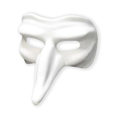 Foto van Venetiaans masker Capitano grezzo wit