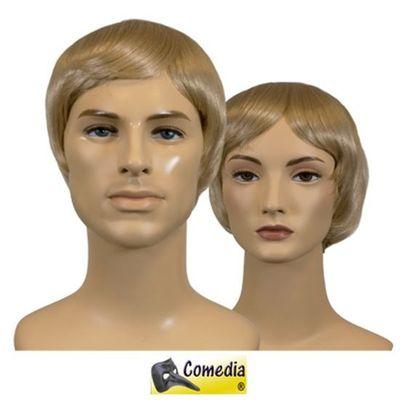 Theaterpruik kort steil blond