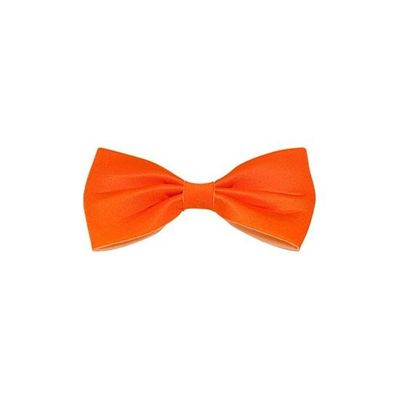Vlinderdas 13,5 cm oranje