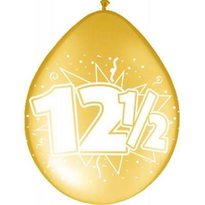 Ballonnen 12,5 jaar goud (30cm) 8st
