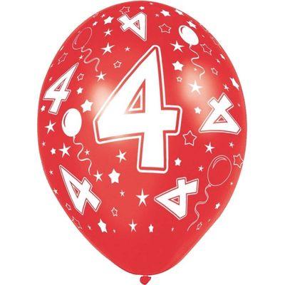 Ballonnen 5 stuks 4 jaar