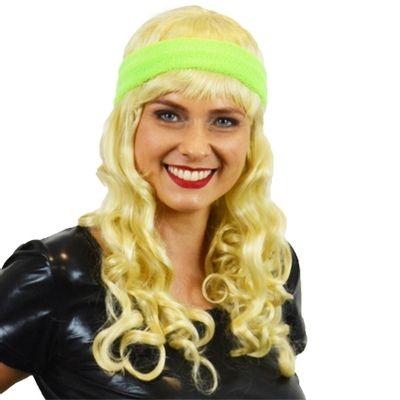 Zweet hoofdband neon groen