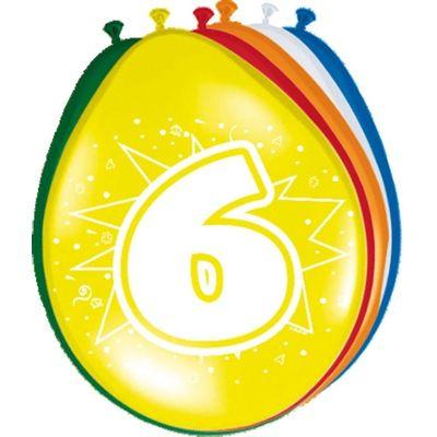 Ballonnen 6 jaar (30cm) 8st