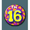 Afbeelding van Button 16 jaar