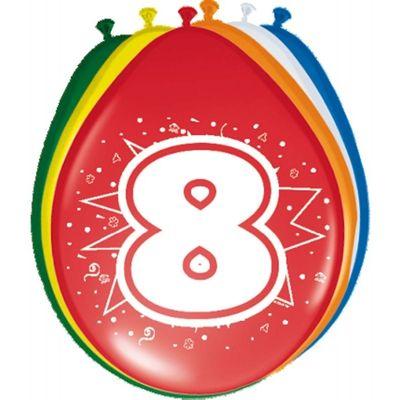 Ballonnen 8 jaar (30cm) 8st