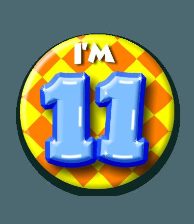 Button 11 jaar