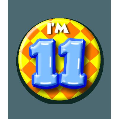 Foto van Button 11 jaar